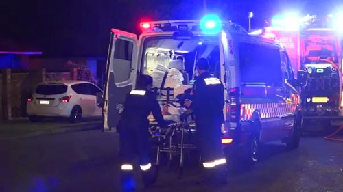 The man was taken to hospital. (9NEWS)
