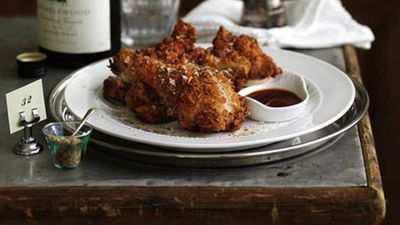 "Recipe: <a href=""http://kitchen.nine.com.au/2016/05/17/10/01/crisp-southern-fried-chicken"" target=""_top"">Crisp Southern fried chicken</a>"