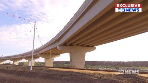 The $900 million Northern Connector has nine bridges.