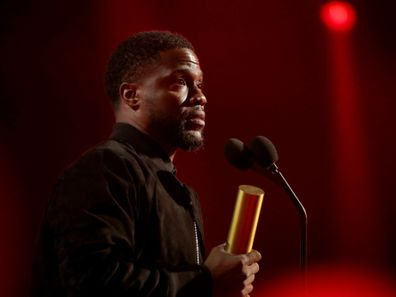 Kevin Hart on stage during the People's Choice Awards