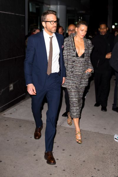 <p>There's no mistaking a power couple, especially one that knows how to dress.</p> <p> Ryan Reynolds and Blake Lively made a strong case for a matching look  as they stepped out in matching suits at the premiere of <em>A Quiet Place </em>inApril<br /> <br /> With Lively clad in a co-ordinating ensemble by Chanel Haute Couture and Reynolds in a classic navy windowpane suit with a crisp white shirt, the couple transformed themselves into a modern-day JFK and Jackie O.</p>