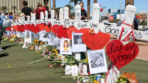 Memorials have been held for the 58 Las Vegas shooting victims. (AAP)
