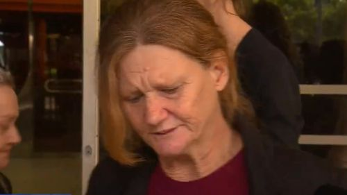 Mr Doelz' mother was emotional as she spoke outside court today. (9NEWS)
