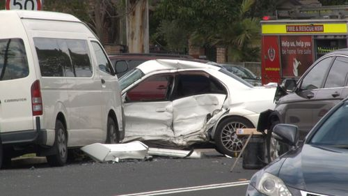 A woman is fighting for her life at the Liverpool Hospital after a collision earlier today. (9NEWS)
