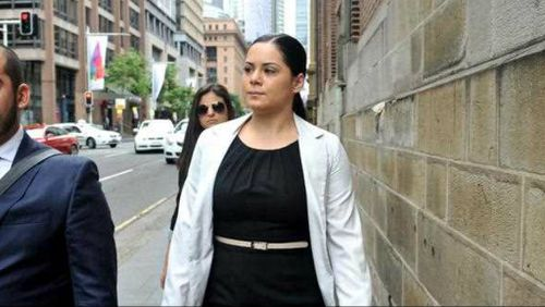 Jessica Silva enters court to hear the verdict of her manslaughter charge. (AAP)