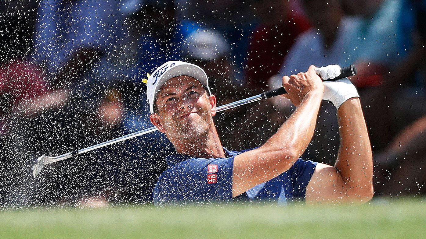 Adam Scott leads Aussies at US PGA Championship, Tiger Woods in the hunt