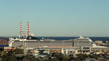 The MSC Magnifica is seen berthed in Fremantle.