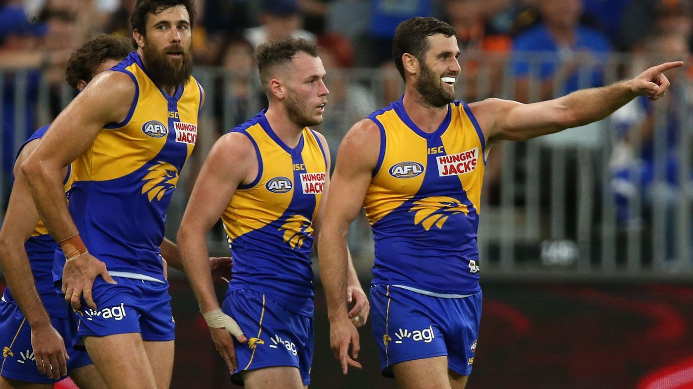 AFL: West Coast Eagles premiership flag before caning GWS Giants