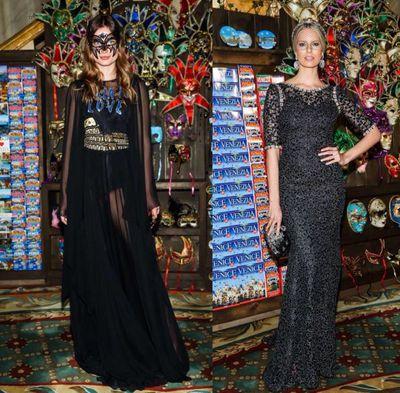 Models Andreea Diaconu and Karolina Kurkova