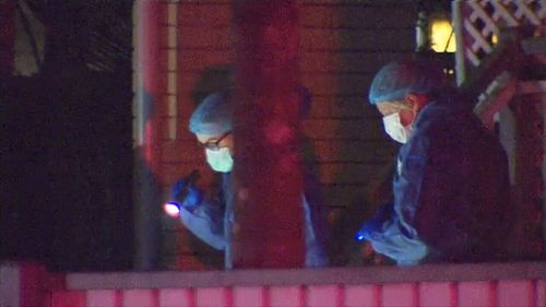 It's believed he was shot in the chest during an argument with a group of men last night. (9NEWS)