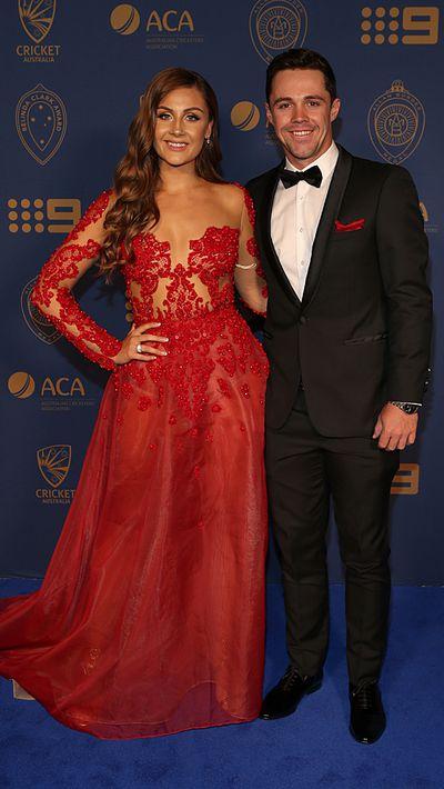 Travis Head and his partner Jessica Davies