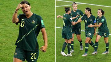Matildas through to knockouts with four Kerr goals