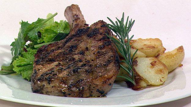 Pork cutlet with fennel, orange & rosemary