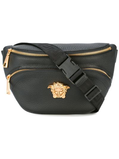 "<p>Versace bum bag, $979 at <a href=""https://www.farfetch.com/au/shopping/men/versace-medusa-charm-bumbag-item-12014821.aspx?storeid=9462&size=17&origin=product-search&bfdqbt=&source=pla&gclid=CjwKEAjw387JBRDPtJePvOej8kASJADkV9TLKGLsZB1oK959LH_oKBJuVbSsSiYhWJui2CzgF2W37RoCTC7w_wcB&gclsrc=aw.ds"" target=""_blank"">Farfetch</a></p> <p></p>"