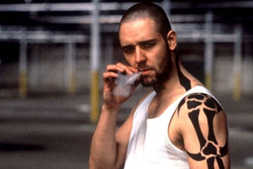 Russell Crowe starred in the 1992 hit film Romper Stomper.