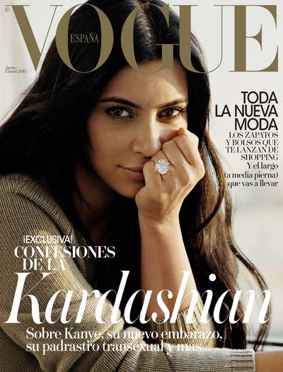 <p><strong><em>Bare-faced beauty</em></strong> </p> <p>Kim Kardashian, Vogue España August 2015</p> <p>&nbsp;</p>