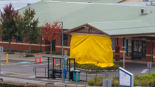 The North West Regional Hospital is seen closed in Burnie, Tasmania, Tuesday, April 14, 2020.