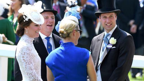 The Tindall's with the Cambridge's at Royal Ascot last year. Picture: Getty