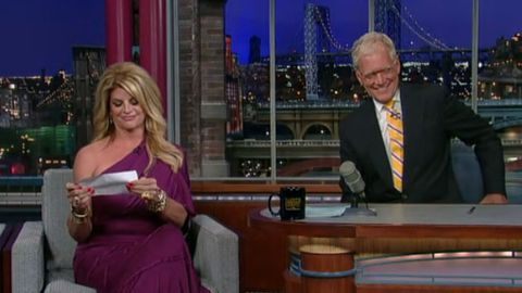 Video: Kirstie Alley reads David Letterman's fat jokes back to him