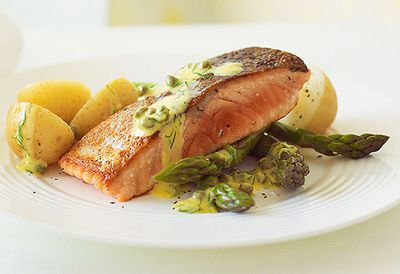 10. Crispy salmon with caper sauce