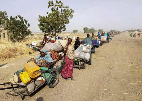 According to the Deputy Director of Army Public Relations, more than 700 persons abducted by Boko Haram insurgents had escaped from their captors and were received by the 242 Battalion of Nigeria troops in Monguno. (AAP)