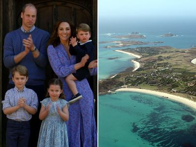 Duke and Duchess of Cambridge with their children; the Isles of Scilly