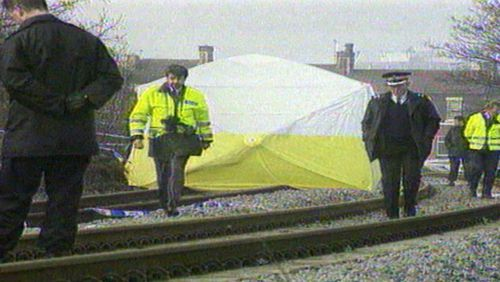 James battered body was found on a railway line after he was snatched by his killers from a nearby shopping centre.