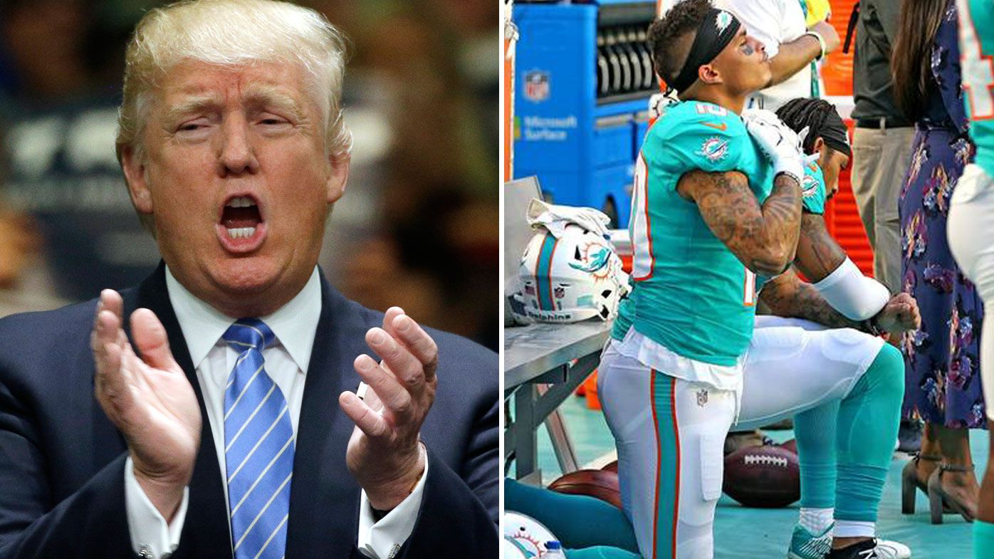 Trump called out NFL protests