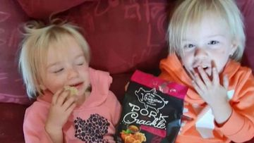 Twin sister Aisha and Lailani, aged three, were trapped in the house during the fire.