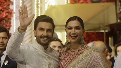 Bollywood stars Renveer Singh and Deepika Padukone