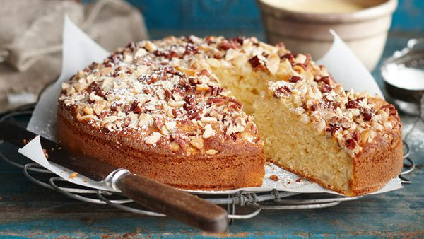 Fruit and nut teacake