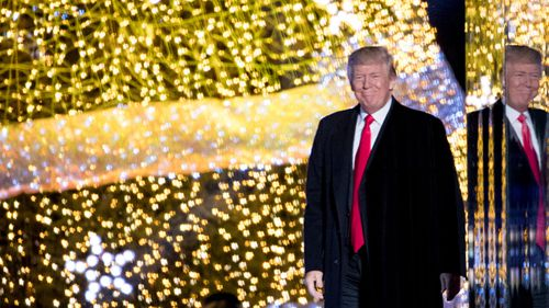 "Trump has expressed concern about a diminished ""Merry Christmas"" message for years. (AP)"
