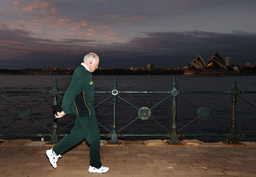 """""""One of my Wallaby tracksuits. One of them is on display. I'm quite fond of that,"""" Mr Howard said."""