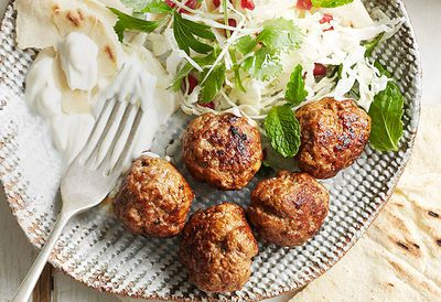 Harissa lamb meatballs