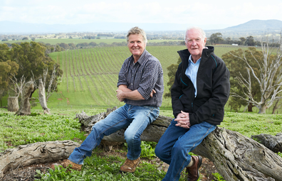 Ben Thomson of Best's Wines pictured with James Halliday