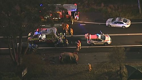 A 19-year-old L-plate driver was killed in a crash in Glenorie, in Sydney's north-west, last night. Picture: 9NEWS.
