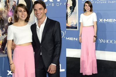 <i>Evan Jonigkeit</i>, who plays Toad in the film, with his <i>Girl</i>'s co-star and real life girlfriend Zosia Mamet.