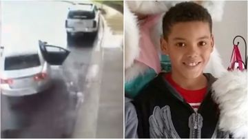 Eight-year-old Chance is being hailed a hero after rescuing his sister from their grandmother's stolen car in Ohio, US.