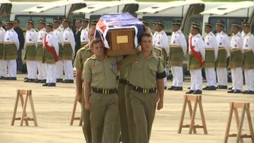 A military repatriation ceremony and a private memorial service will be held for the fallen. (9NEWS)
