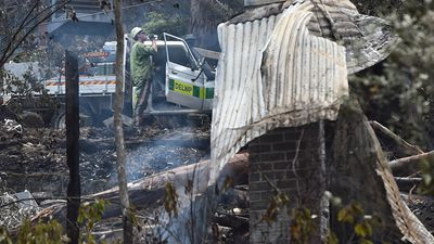 The losses in Wye River account for a third of the homes in the area. (AAP)