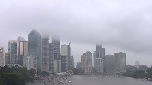 Brisbane recorded 8mm of rain, but more has been forecast. (9NEWS)