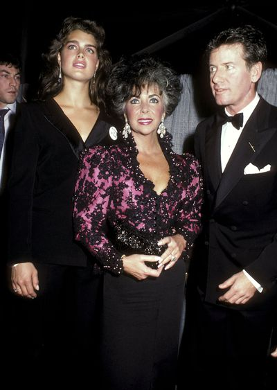 Brooke Shields,  Elizabeth Taylor and Calvin Klein at the Jacob K. Javits Convention Center in New York,on April 29, 1986.