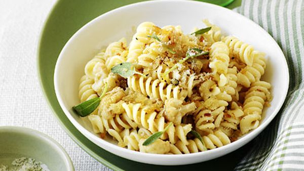 Fusilli with cauliflower ragu, sage and pecorino