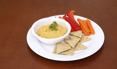 <strong>Vegetable sticks and wholegrain crackers with hummus, salsa or tzatziki</strong>