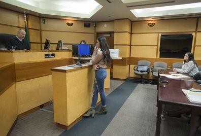 Jordan Holgerson in court in Washington