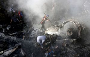 Pakistan Airlines plane crash: At least two of the 98 on board survive as A320 plunges into crowded Karachi suburb