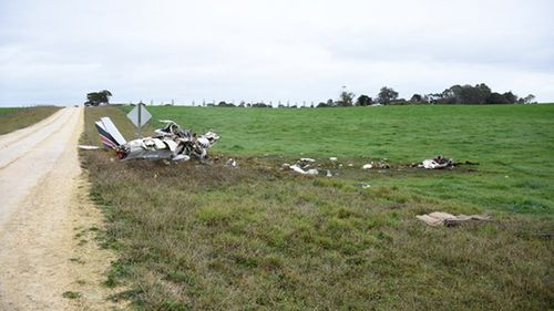 An Angel Flight plane crashed in a paddock shortly after take-off in 2017.
