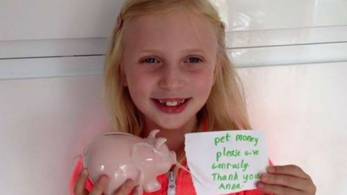 Delivery driver donates to young girl's animal fundraiser