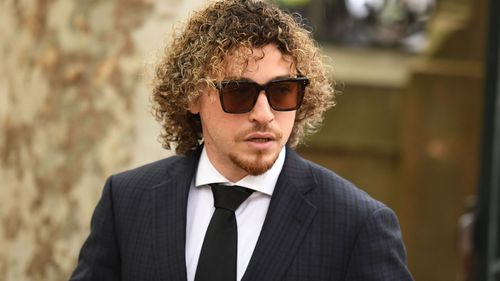 Daniel Taylor enters court before being cleared of his involvement in an illegal tobacco smuggling ring.