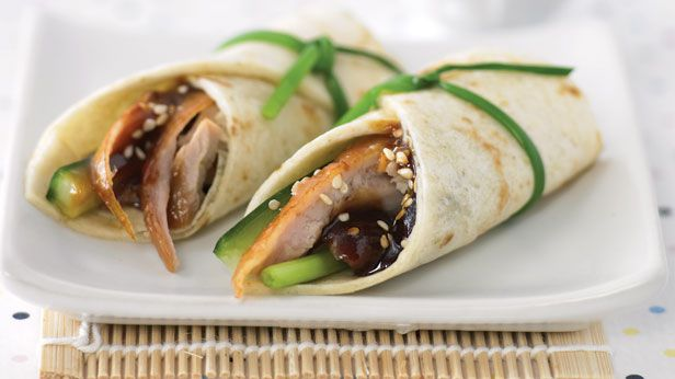 Pecking duck wraps